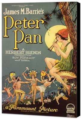 Peter Pan - 11 x 17 Museum Wrapped Canvas