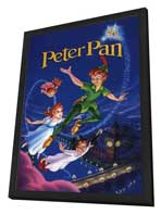 Peter Pan - 11 x 17 Movie Poster - Style D - in Deluxe Wood Frame
