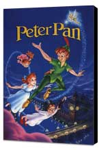 Peter Pan - 11 x 17 Movie Poster - Style D - Museum Wrapped Canvas