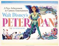 Peter Pan - 22 x 28 Movie Poster - Half Sheet Style A