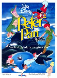 Peter Pan - 11 x 17 Movie Poster - Spanish Style A