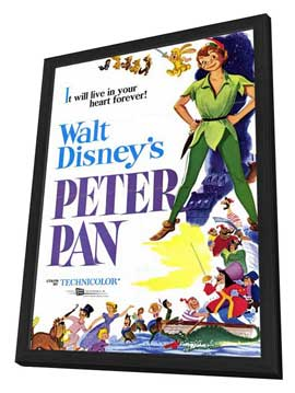 Peter Pan - 11 x 17 Movie Poster - Style A - in Deluxe Wood Frame