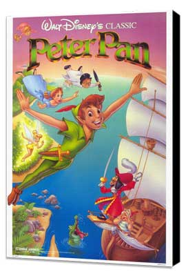 Peter Pan - 27 x 40 Movie Poster - Style A - Museum Wrapped Canvas