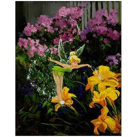 Peter Pan - Tinker Bell Pixie Dust in the Garden Paper Giclee