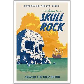 Peter Pan - Skull Rock Disney Paper Giclee Print