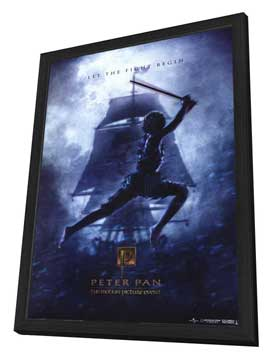 Peter Pan - 11 x 17 Movie Poster - Style B - in Deluxe Wood Frame