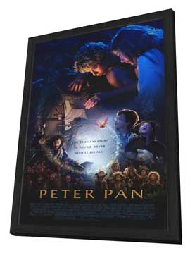 Peter Pan - 27 x 40 Movie Poster - Style A - in Deluxe Wood Frame