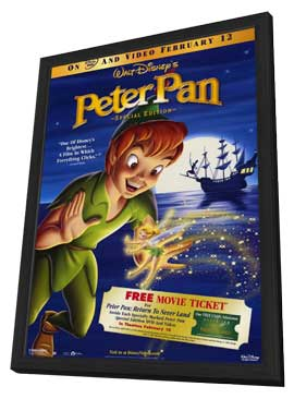 Peter Pan: Special Edition - 11 x 17 Movie Poster - Style A - in Deluxe Wood Frame