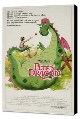 Pete's Dragon - 27 x 40 Movie Poster - Style B - Museum Wrapped Canvas