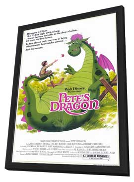 Pete's Dragon - 11 x 17 Movie Poster - Style A - in Deluxe Wood Frame