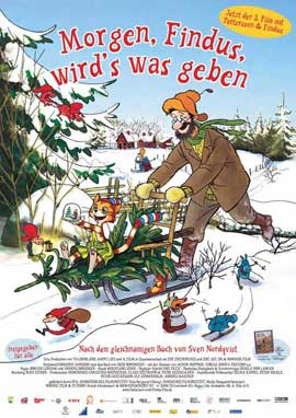 Pettson och Findus 3: Tomtemaskinen - 27 x 40 Movie Poster - German Style A