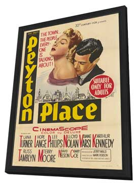 Peyton Place - 11 x 17 Movie Poster - Style A - in Deluxe Wood Frame