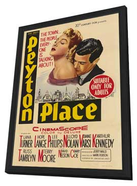 Peyton Place - 27 x 40 Movie Poster - Style A - in Deluxe Wood Frame