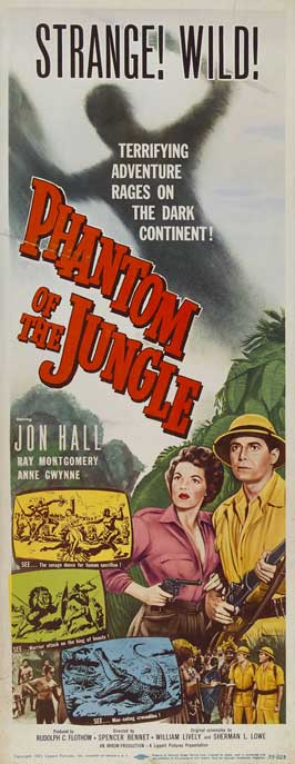 Phantom of the Jungle - 14 x 36 Movie Poster - Insert Style A