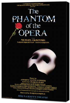 Phantom of the Opera, The (Broadway) - 11 x 17 Poster - Style A - Museum Wrapped Canvas
