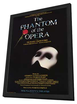 Phantom of the Opera, The (Broadway) - 11 x 17 Poster - Style A - in Deluxe Wood Frame