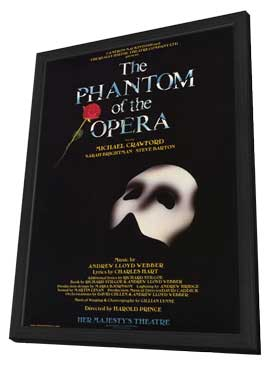 Phantom of the Opera, The (Broadway) - 27 x 40 Poster - Style A - in Deluxe Wood Frame