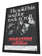 Phantom of the Paradise - 27 x 40 Movie Poster - Style B - in Deluxe Wood Frame