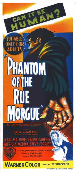 Phantom of the Rue Morgue - 14 x 36 Movie Poster - Insert Style A