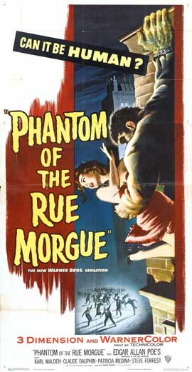 Phantom of the Rue Morgue - 14 x 36 Movie Poster - Insert Style B