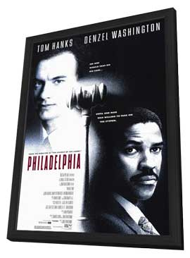 Philadelphia - 27 x 40 Movie Poster - Style B - in Deluxe Wood Frame