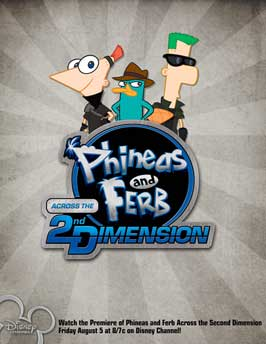 Phineas and Ferb: Across the Second Dimension - 43 x 62 Movie Poster - Bus Shelter Style A