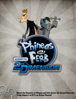 Phineas and Ferb: Across the Second Dimension - 11 x 17 Movie Poster - Style B