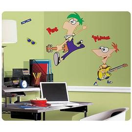 Phineas and Ferb: Across the Second Dimension - Peel and Stick Giant Wall Applique