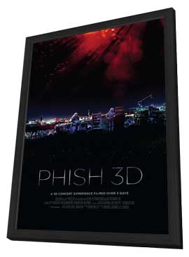 Phish 3D - 11 x 17 Movie Poster - Style A - in Deluxe Wood Frame
