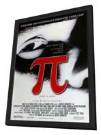 Pi - 27 x 40 Movie Poster - Style A - in Deluxe Wood Frame