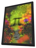 Pi - 11 x 17 Movie Poster - Style B - in Deluxe Wood Frame