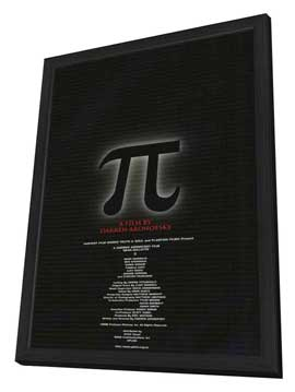 Pi - 11 x 17 Movie Poster - Japanese Style A - in Deluxe Wood Frame