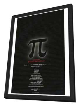 Pi - 27 x 40 Movie Poster - Japanese Style A - in Deluxe Wood Frame