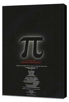 Pi - 11 x 17 Movie Poster - Japanese Style A - Museum Wrapped Canvas