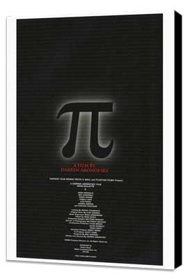 Pi - 27 x 40 Movie Poster - Japanese Style A - Museum Wrapped Canvas