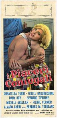 I Piaceri coniugali - 13 x 28 Movie Poster - Italian Style A