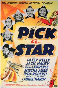 Pick a Star - 43 x 62 Movie Poster - Bus Shelter Style A