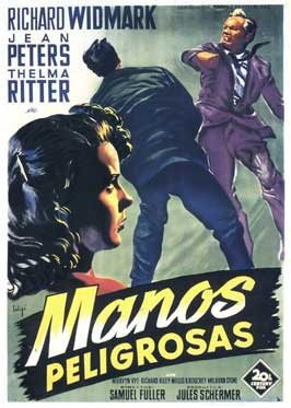 Pickup on South Street - 11 x 17 Movie Poster - Spanish Style A