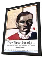 Pier Paolo Pasolini - 11 x 17 Movie Poster - French Style A - in Deluxe Wood Frame