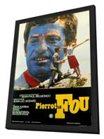 Pierrot le Fou - 27 x 40 Movie Poster - Foreign - Style A - in Deluxe Wood Frame