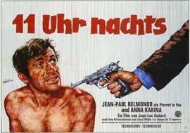 Pierrot le Fou - 11 x 17 Movie Poster - German Style A