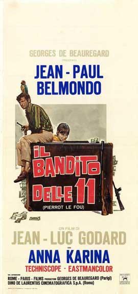 Pierrot le Fou - 11 x 17 Movie Poster - Italian Style A