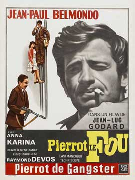 Pierrot le Fou - 11 x 17 Movie Poster - Belgian Style A