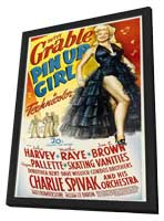 Pin-Up Girl - 11 x 17 Movie Poster - Style B - in Deluxe Wood Frame