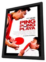 Ping Pong Playa - 11 x 17 Movie Poster - Style A - in Deluxe Wood Frame