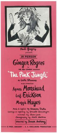 Pink Jungle, The (Broadway) - 11 x 17 Poster - Style A