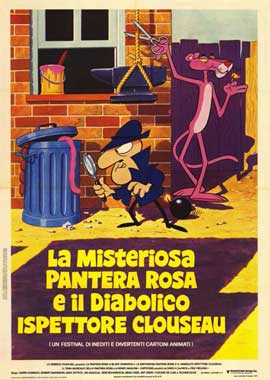 Pink Panther Film Cartoon Festival - 11 x 17 Movie Poster - Italian Style A