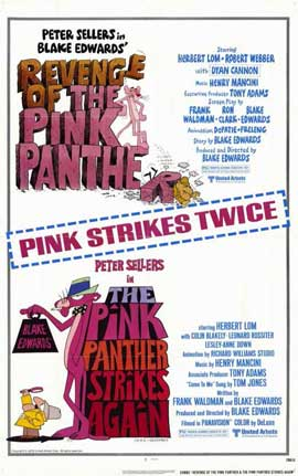 Pink Panther Strikes Again/Revenge of The Pink Panther - 11 x 17 Movie Poster - Style A