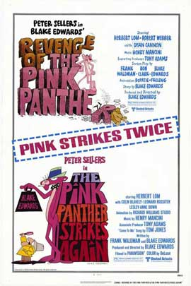 Pink Panther Strikes Again/Revenge of The Pink Panther - 27 x 40 Movie Poster - Style A