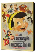 Pinocchio - 27 x 40 Movie Poster - Style F - Museum Wrapped Canvas